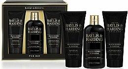 Parfumuri și produse cosmetice Set - Baylis & Harding Black Pepper & Ginseng (sh/gel/200ml + a/s/balm/200ml + wash/300ml)