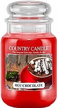 Parfumuri și produse cosmetice Lumânare parfumată în suport de sticlă - Country Candle Hot Chocolate