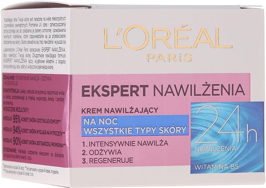 """Cremă de noapte pentru față """"Expert în hidratare"""" - L'Oreal Paris Face Cream — Imagine N1"""