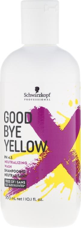 Șampon fără sulfați cu efect anti-îngălbenire - Schwarzkopf Professional Goodbye Yellow Neutralizing Shampoo