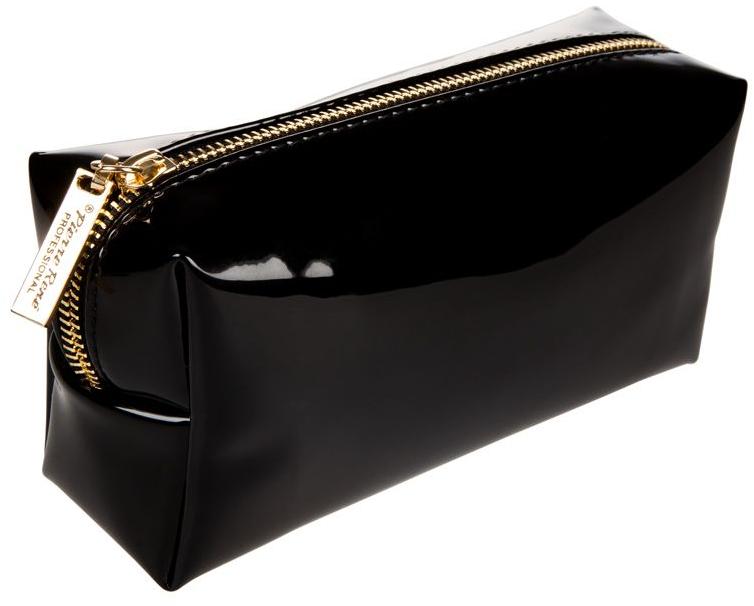 Trusă cosmetică, neagră cu fermoar auriu - Pierre Rene Professional — Imagine N1