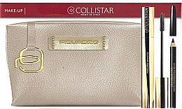 Parfumuri și produse cosmetice Set - Collistar Mascara Infinito (mascara/11ml + kajal/1,2g + pounch)