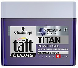 Parfumuri și produse cosmetice Gel de păr - Schwarzkopf Taft Looks Titan Power Gel Ultimate Hold