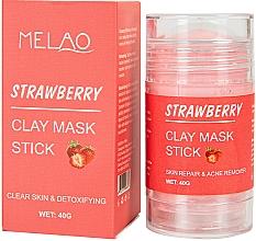 Parfumuri și produse cosmetice Mască-stick pentru față, cu extract de căpșună - Melao Strawberry Clay Mask Stick