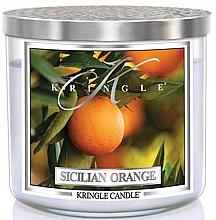 Parfumuri și produse cosmetice Lumânare parfumată în borcan - Kringle Candle Sicilian Orange