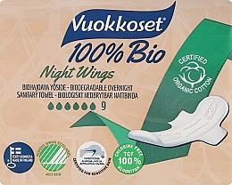 Parfumuri și produse cosmetice Absorbante, 9 bucăți - Vuokkoset Bio Night Wings