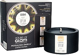 Parfumuri și produse cosmetice Lumânare parfumată - House of Glam Black Opium Candle