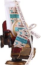 Parfumuri și produse cosmetice Set - Pokhara For Men Vintage Shaving Gift Set (shav/soap/50g + shav/balm/150ml + shav/brush/1pc + acc)