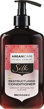 Balsam regenerant cu proteine de mătase pentru păr - Arganicare Silk Restructuring Conditioner