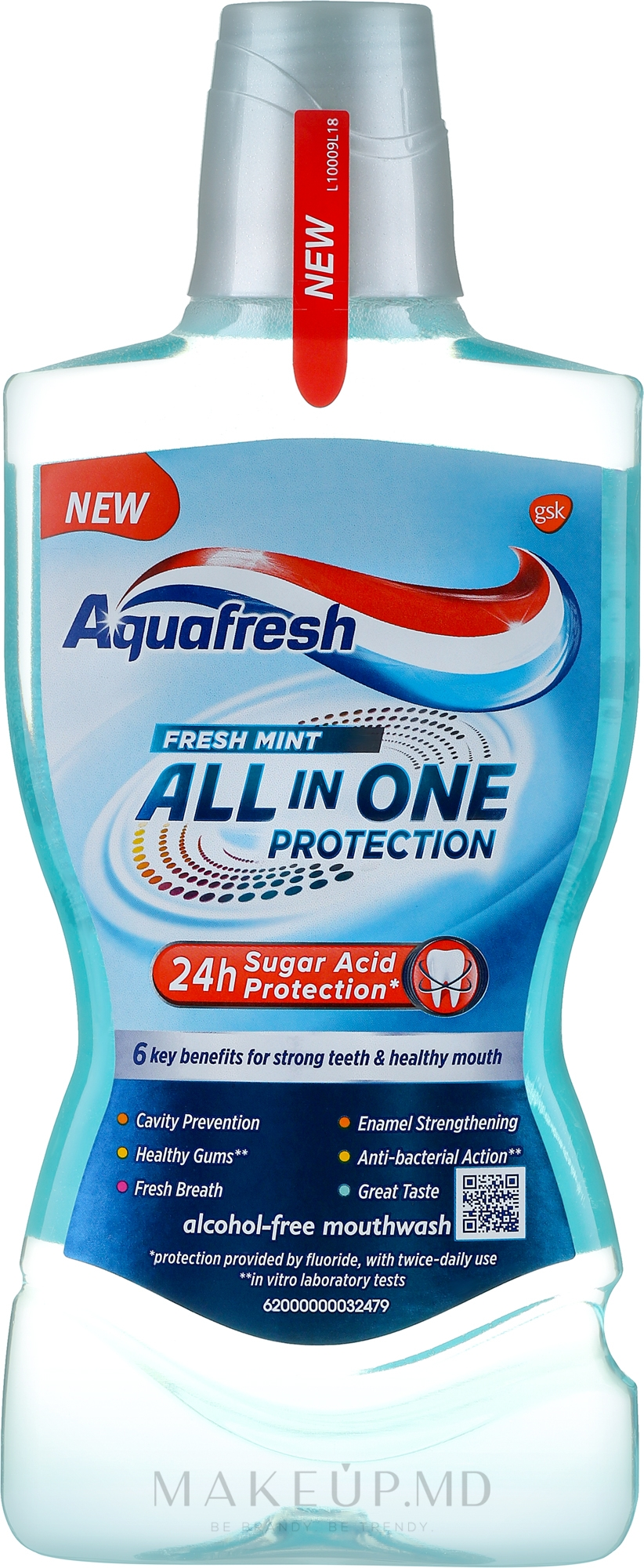 Agent de clătire pentru cavitatea bucală - Aquafresh All In One Protection — Imagine 500 ml