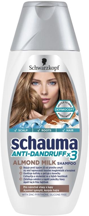 "Шампунь против перхоти ""Молочко Миндаля"" - Schwarzkopf Schauma Anti-Dandruff x3 Almond Milk"