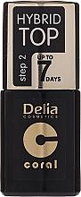 Parfumuri și produse cosmetice Finish de unghii - Delia Coral Hybrid Top Coat Gel
