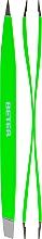 Parfumuri și produse cosmetice Pensetă dublă, profesională, verde deschis - Beter Duply