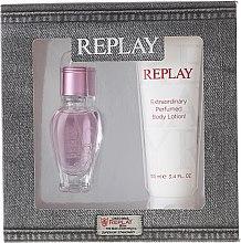 Parfumuri și produse cosmetice Replay Jeans Spirit! For Her - Set (edt/20ml + b/lot/100ml)