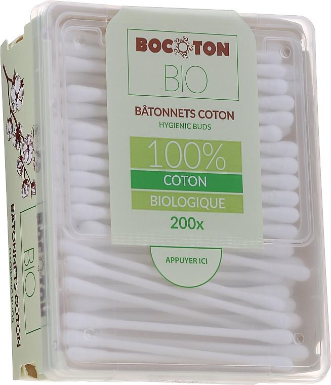 Bețișoare din bumbac, 200 bucăți - Bocoton Bio