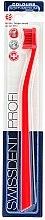 Parfumuri și produse cosmetice Periuță de dinți, duritate medie, roșie - SWISSDENT Profi Colours Soft-Medium Toothbrush Red&Red