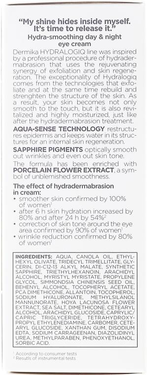 Cremă pentru conturul ochilor - Dermika Hydralogiq Eye Cream — Imagine N3