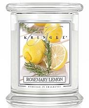 Parfumuri și produse cosmetice Lumânare aromată în suport de steclă - Kringle Candle Rosemary Lemon