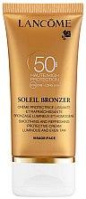 Parfumuri și produse cosmetice Cremă pentru față cu protecție solară - Lancome Soleil Bronzer Smoothing Protective Cream SPF 50