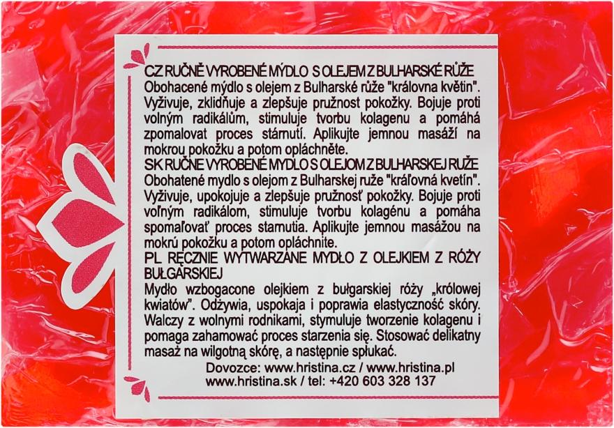 Săpun natural cu ulei de trandafir bulgar - Hristina Cosmetics Soap — Imagine N1