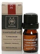 """Parfumuri și produse cosmetice Ulei esențial """"Scorțișoară"""" - Apivita Aromatherapy Organic Cinnamon Oil"""
