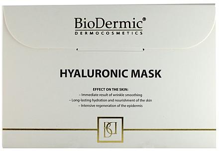 Mască cu acid hialuronic pentru față - Biodermic Hyaluronic Mask — Imagine N1