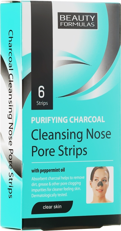 Benzi de Curățare profundă a porilor de pe Nas - Beauty Formulas Purifying Charcoal Deep Cleansing Nose Pore