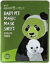 "Parfumuri și produse cosmetice Mască de țesut ""Panda"" - Holika Holika Baby Pet Magic Mask Sheet Vitality Panda"