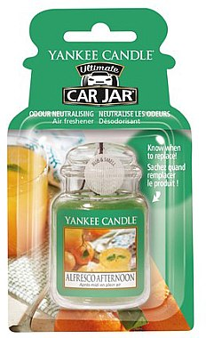 Aromatizator auto - Yankee Candle Car Jar Ultimate Alfresco Afternoon