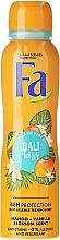 Parfumuri și produse cosmetice Deodorant-spray cu aromă de mango și flori de vanilie - Fa Bali Kiss Deodorant