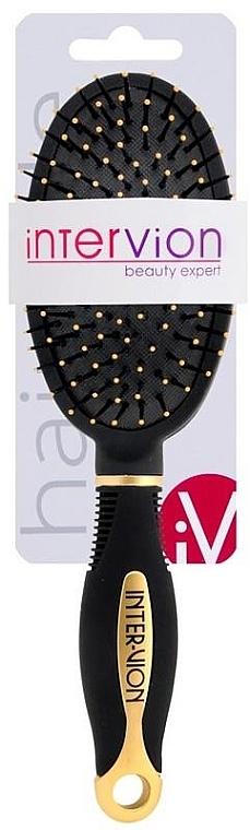 Perie pneumatică de păr, 499252, negru-aurie - Inter-Vion