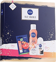 Parfumuri și produse cosmetice Set - Nivea Fruit Sensation Set (sh/mousse/200ml + deo/roll-on/50ml + lip/balm/5.5ml)