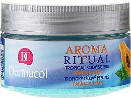 "Peeling pentru corp ""Papaya și mentă"" - Dermacol Aroma Ritual Papaya&Mint Body Scrub — Imagine N1"