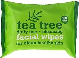 Parfumuri și produse cosmetice Șervețele umede pentru față, 25 bucăți - Xpel Marketing Ltd Tea Tree Facial Wipes For Clean Healthy Skin