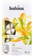 """Parfumuri și produse cosmetice Ceara aromatică """"Mango și Bergamotă"""" - Bolsius True Moods Feel Happy Mango & Bergamot"""