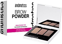 Parfumuri și produse cosmetice Pudră pentru sprâncene - Andmetics Brow Powder Trio
