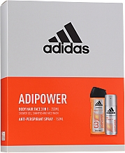 Set - Adidas Adipower Men (deo/150ml +sh/gel/250ml) — Imagine N1