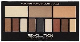 Parfumuri și produse cosmetice Paletă de Farduri de Pleoape, 12 nuanțe - Makeup Revolution Ultra Eye Contour Light and Shade