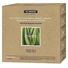 Parfumuri și produse cosmetice Set - Klorane Oat Milk (shm/200ml + h/balm/200ml)