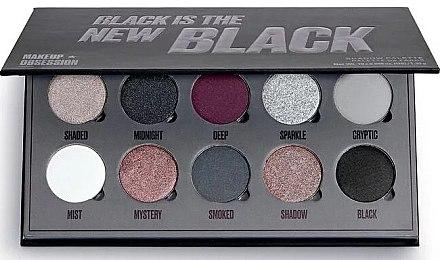 Paletă farduri de pleoape, 10 nuanțe - Makeup Obsession Black Is The New Black