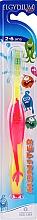 Parfumuri și produse cosmetice Periuță de dinți pentru copii 2-6 ani, roz - Elgydium Kids Monster Toothbrush