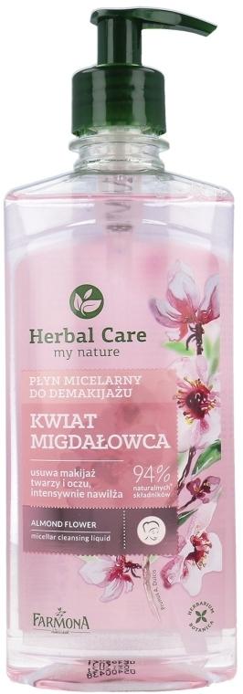 """Apă micelară """"Flori de migdale"""" - Farmona Herbal Care Almond Flower Micellar Cleansing Liquid"""