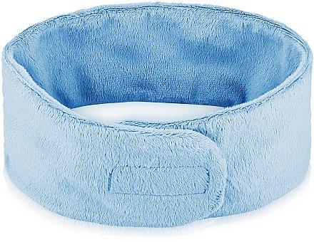 Bentiță cosmetică pentru păr, albastră - MakeUp