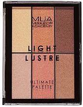 Parfumuri și produse cosmetice Paletă de machiaj - MUA Light Lustre Ultimate Palette Bronze, Blush, Highlight