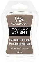 Parfumuri și produse cosmetice Ceară aromată - WoodWick Wax Melt Black Amber & Citrus