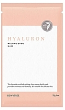 Parfumuri și produse cosmetice Mască hialuronică pentru față - Dewytree Hyaluron Melting Chou Mask