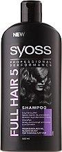 Parfumuri și produse cosmetice Șampon pentru păr subțire și lipsit de volum - Syoss Full Hair 5 Shampoo