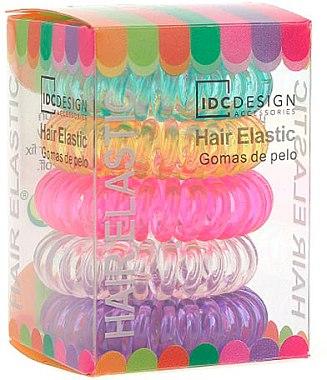 Set elastice din silicon pentru păr, 5 bucăți, multicolore - IDC Institute Design Hair Bands Pack — Imagine N1