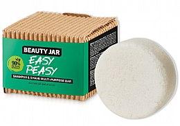 Parfumuri și produse cosmetice Săpun pentru păr și barbă - Beauty Jar Easy Peasy Shampoo & Shave Multi-Purpose Bar