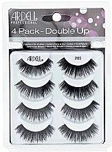 Parfumuri și produse cosmetice Set gene false - Ardell Double Up 4 Pack 205 Lashes (8 buc.)